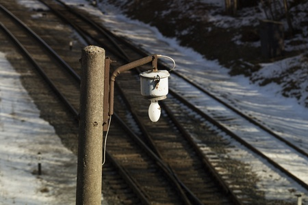 Lamp over the railway photo