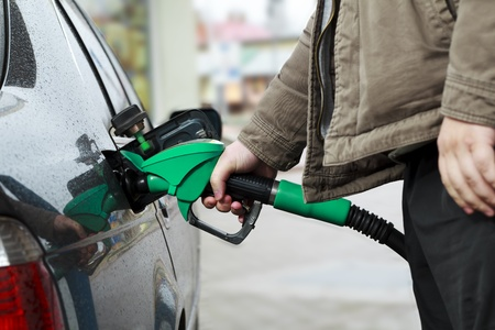 Refilling Car at Gas Station Stock Photo - 12888730