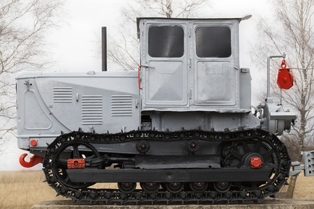 Old crawler tractor photo