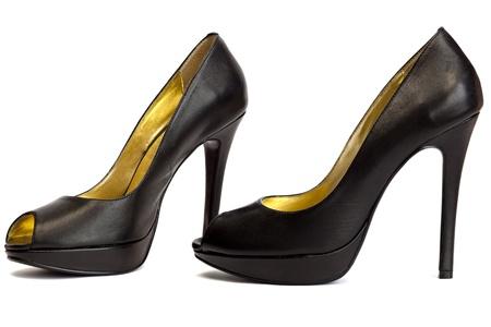 Black high -heeled shoes