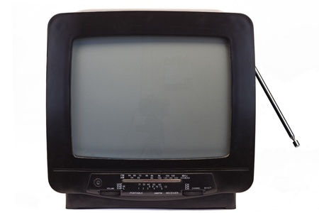 nineties: TV with Receiver from the nineties Stock Photo