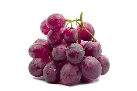 Red grapes on a white background Banco de Imagens