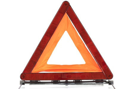 Warning sign triangle on a white background Stock Photo - 14551428