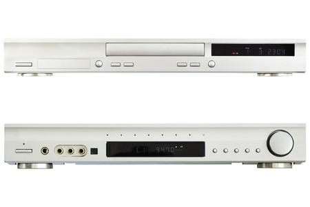 DVD  Player AV Receiver on a white background photo