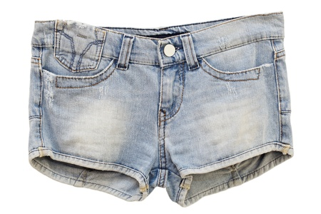 Women s Jeans Shorts on a white background Stock Photo - 14789414