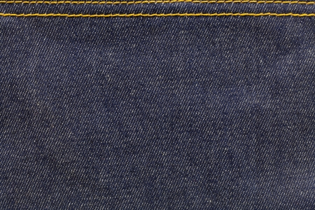 Denim fabric with seam in one side photo