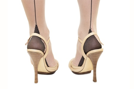 Woman foot in high-heeled shoes Stock Photo - 15053341