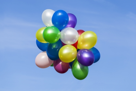 Multi colored balloons in the sky Stock Photo - 15275602