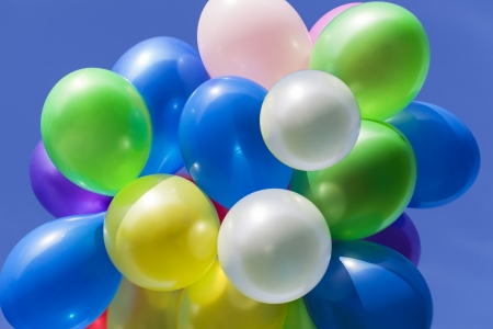Different coloured balloons in the sky near Stock Photo - 15516916