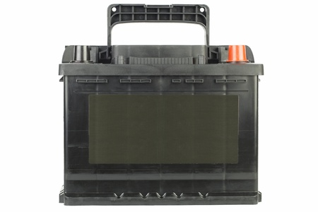 Car battery in black on a white background photo
