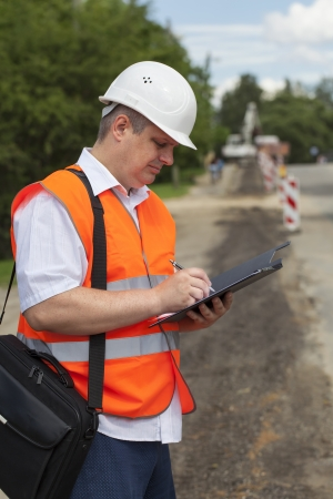 Engineer near the road repair work Stock Photo - 17625657