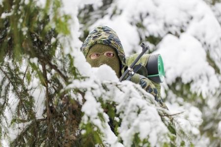 backwoods: Hunter hidden in the backwoods