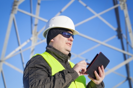 electrical engineer: Electrical Engineer with tablet PC