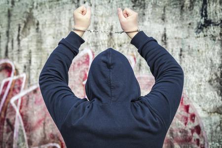 Hostage in handcuffs photo