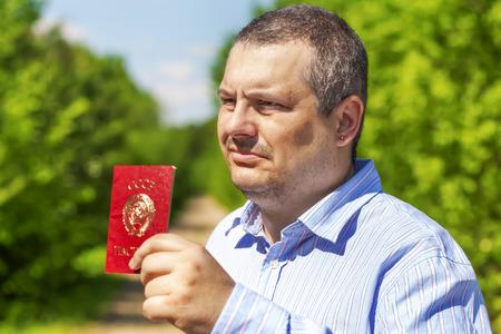 soviet union: Man with soviet union passport