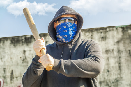 vandal: Man with a baseball bat