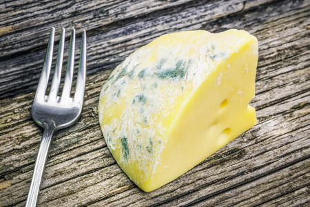 Moldy Käse auf Holzbrettern Standard-Bild - 34236207