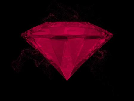 intensity: Gem in red on black color