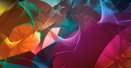 intensity: Abstract waves in multicolors