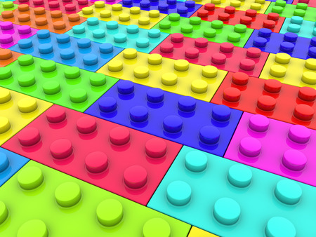 colors: Toy bricks in various colors