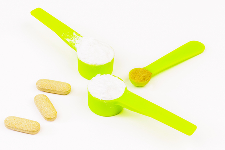 muscle gain: Scoops with amino acids,creatine and multivitamins