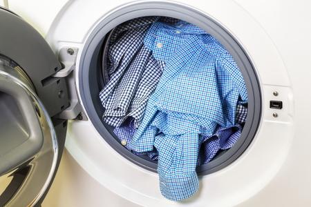Shirts in washing machine