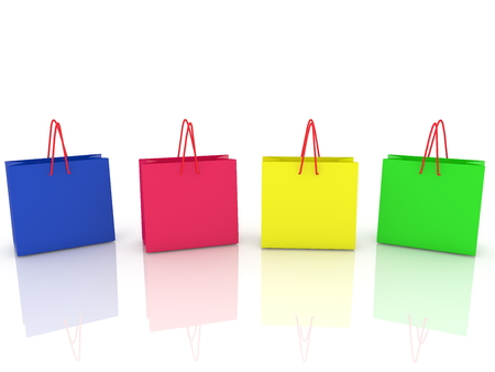 Four colorful shopping bags Stock Photo - 94834226