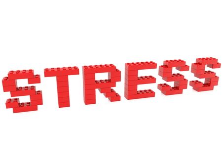 Stress concept built from toy bricks