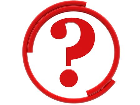 Concept of question mark in red color