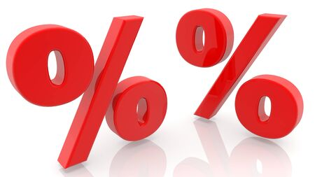 Two percent signs in red