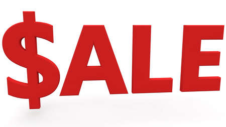 Dollar sign with sale concept Stockfoto