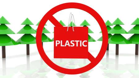 No plastic bags concept