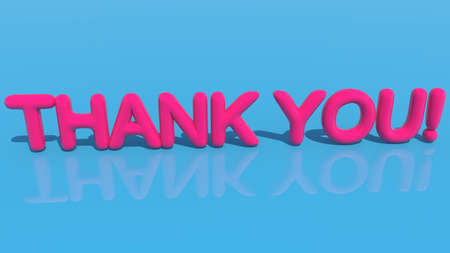 Thank you concept on blue Stockfoto