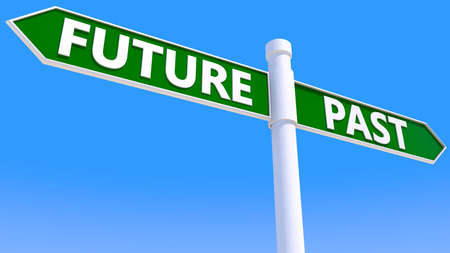 Signpost with future and past concept