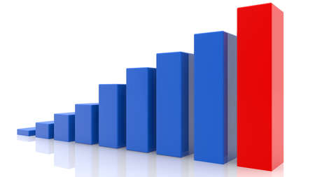 Growing business chart bar in various colors Stockfoto