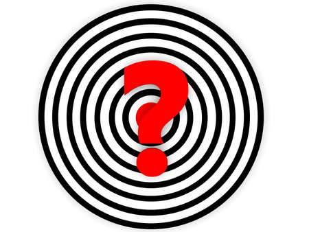 Concept of target with question mark Stockfoto