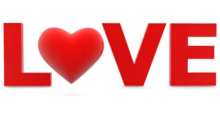 Love concept with red heart