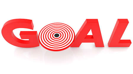 Target with goal concept in red