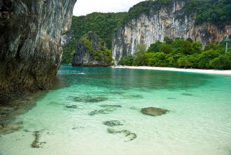 Beautiful beach at Andaman sea Krabi Thailand  Stock Photo