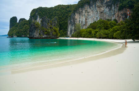 Beautiful beach at Andaman sea Krabi Thailand  Stock Photo