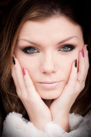 british girl: Beautiful British Girl Close-Up