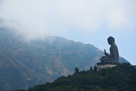 Big Buddha On Top Of The Mountain
