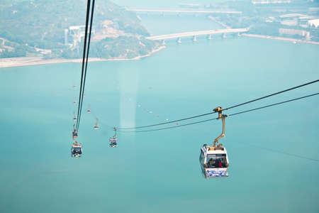 Hong Kong, Lantau Island, 17 January 2012, On Ngong Ping 360 Cable Car Go To Po lin Temple