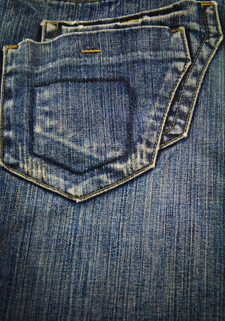 Denim jean with back pocket classic style photo
