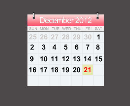 Doomsday Calendar Of 21 December 2012, End of the world Stock Photo - 13514256