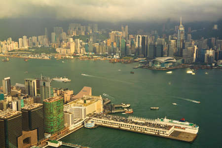 Hong Kong High angle View From 100 floors Building photo