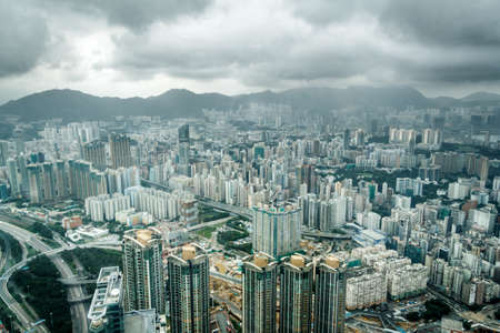 Hong Kong High Angle View From One Hundred Floors Building photo
