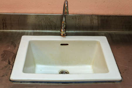 Dirty Old Sink Close Up photo