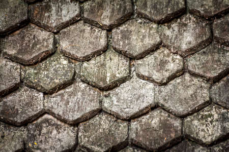 Old Roof Texture Close Up photo