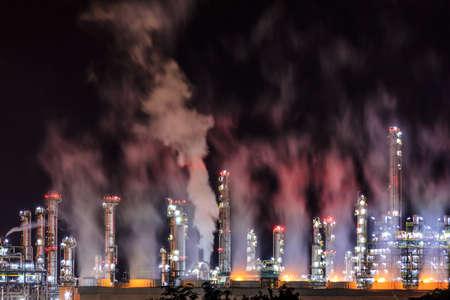 kwaśne deszcze: Rafineria W Nocy